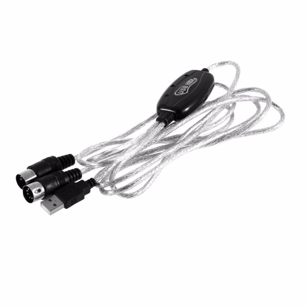 Adaptador de Cable de interfaz USB a MIDI, 6 pies, 2M, convertidor...