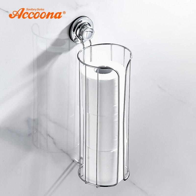 Accoona soporte de toalla de papel estantes de succión de baño estante de ducha estantes de baño organizador de almacenamiento accesorios de baño A11415