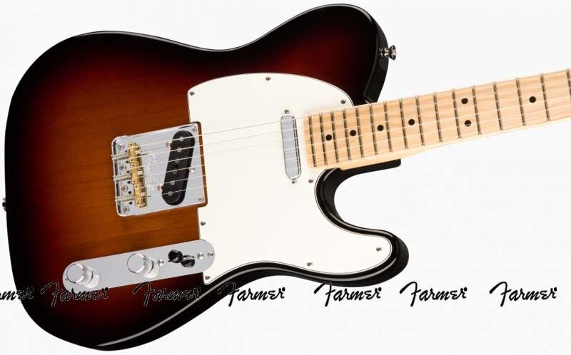 Farmer custom shop/guitarra eléctrica de 6 cuerdas/Diapasón de arce/guitarra eléctrica Sunburst de 3 colores/envío gratis