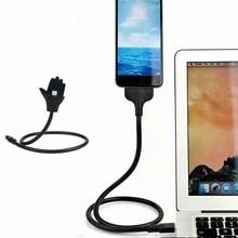 Destek veri hattı müzik arayüzü esnek şarj kablosu tutucu Usb mikro Datakabel Voor Apple/Letv/Android Telefoons