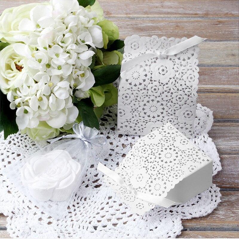 50 Uds. Cajas de embalaje de cartón, bolsas de embalaje, caja de regalo de boda de papel Kraft, bolsas de dulces, bolsas, paquete de grageas, bautizo