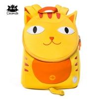 Cocomilo Little Kids School Bag Waterproof Cat Model Neoprene Children School Backpack Girls Lovely 3D Cute Cat for 2-5 Years