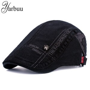 [YARBUU] Cotton Visors Caps For Men Casual Peaked Caps letter embroidery Visors cap Hats solid Casquette Cap drop shipping