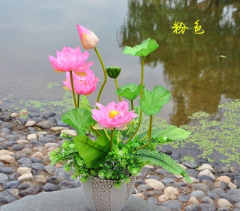 Factory outlets] the beam lotus flower factory simulation artificial flowers silk wedding housewarming opening with flowers