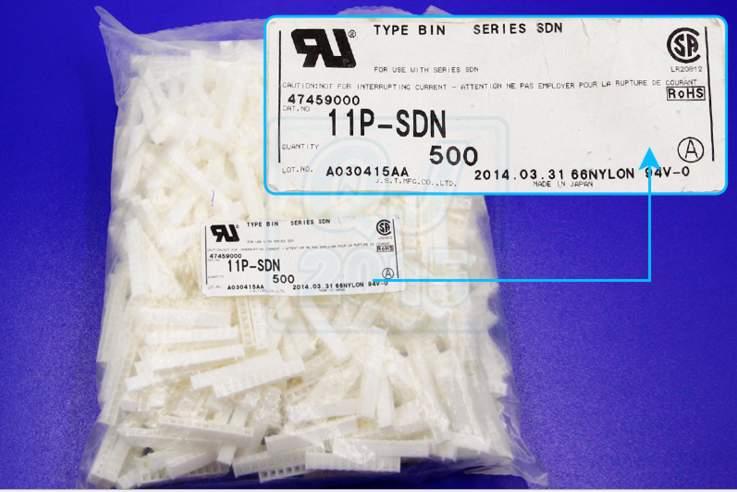 11p sdn jst conectores terminais de caixas 100 de pecas novas e originais