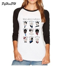 PyHenPH marque t-shirt à manches longues femmes grandes femmes de la Science/grands esprits de la Science imprimé t-shirt Raglan haut pour femme