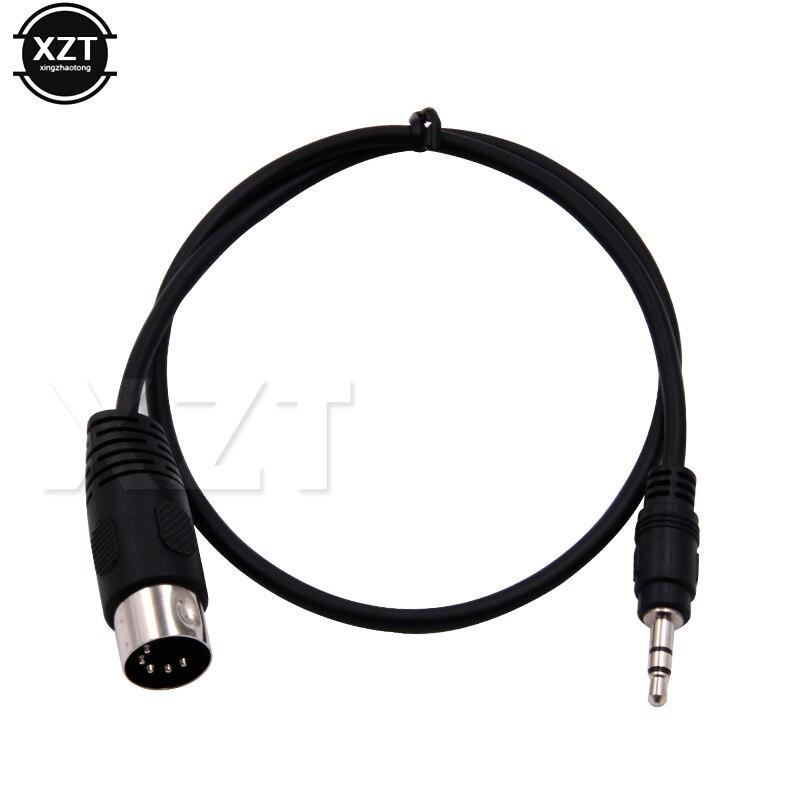 PZ 1pcs 3.5mm סטריאו שקע אודיו כבל Din 5 פין MIDI זכר תקע באיכות גבוהה 50cm 1m 3m עבור מיקרופון