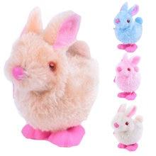 Mignon liquidation animaux jouets enfants horloge jouets sautant marche jouets en peluche lapin éducation jouets bébé enfants jouets