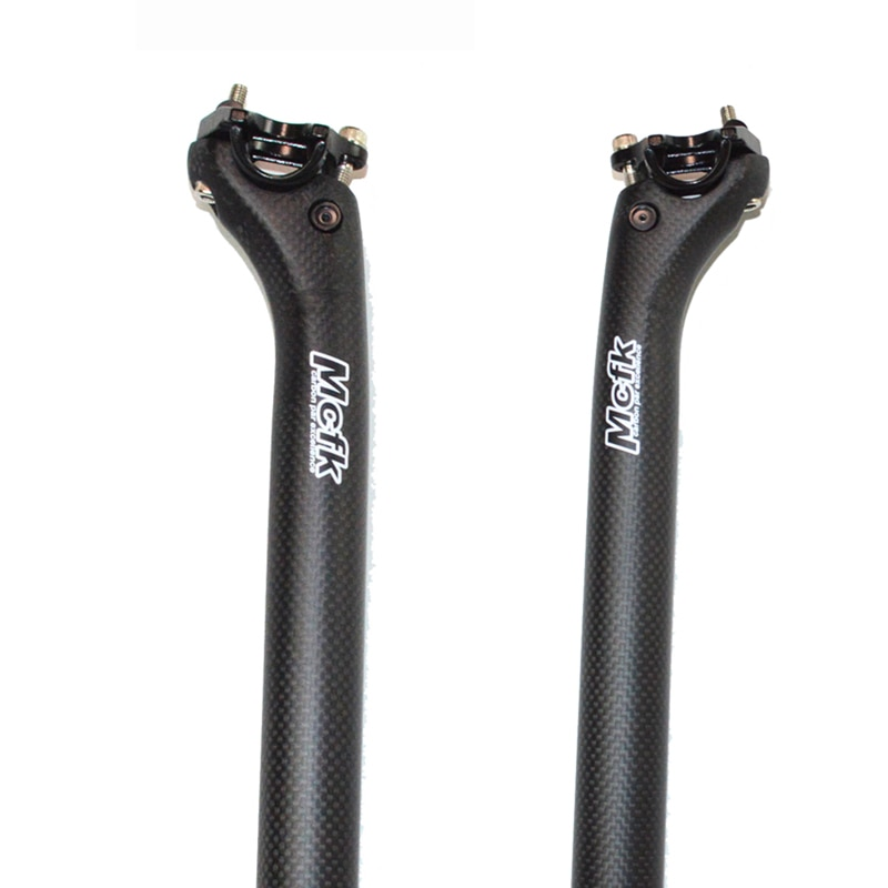 Piezas de asiento de bicicleta de fibra de carbono mcpf MTB para bicicleta de carretera longitud de poste de carbono 350 400 450MM offset 25mm ultraligero