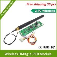 DHL Livraison Gratuite 30 pièces PCB DMX512 2.4G sans fil DMX512 lémetteur et le récepteur; facile à utiliser intégré à lintérieur de la lumière