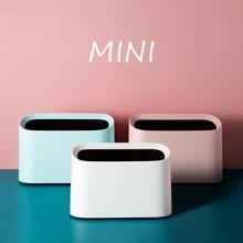 Mini cubo de basura, cubo de basura de escritorio, cubo de basura para el hogar, cubo de basura con tapa, caja de almacenamiento de escritorio