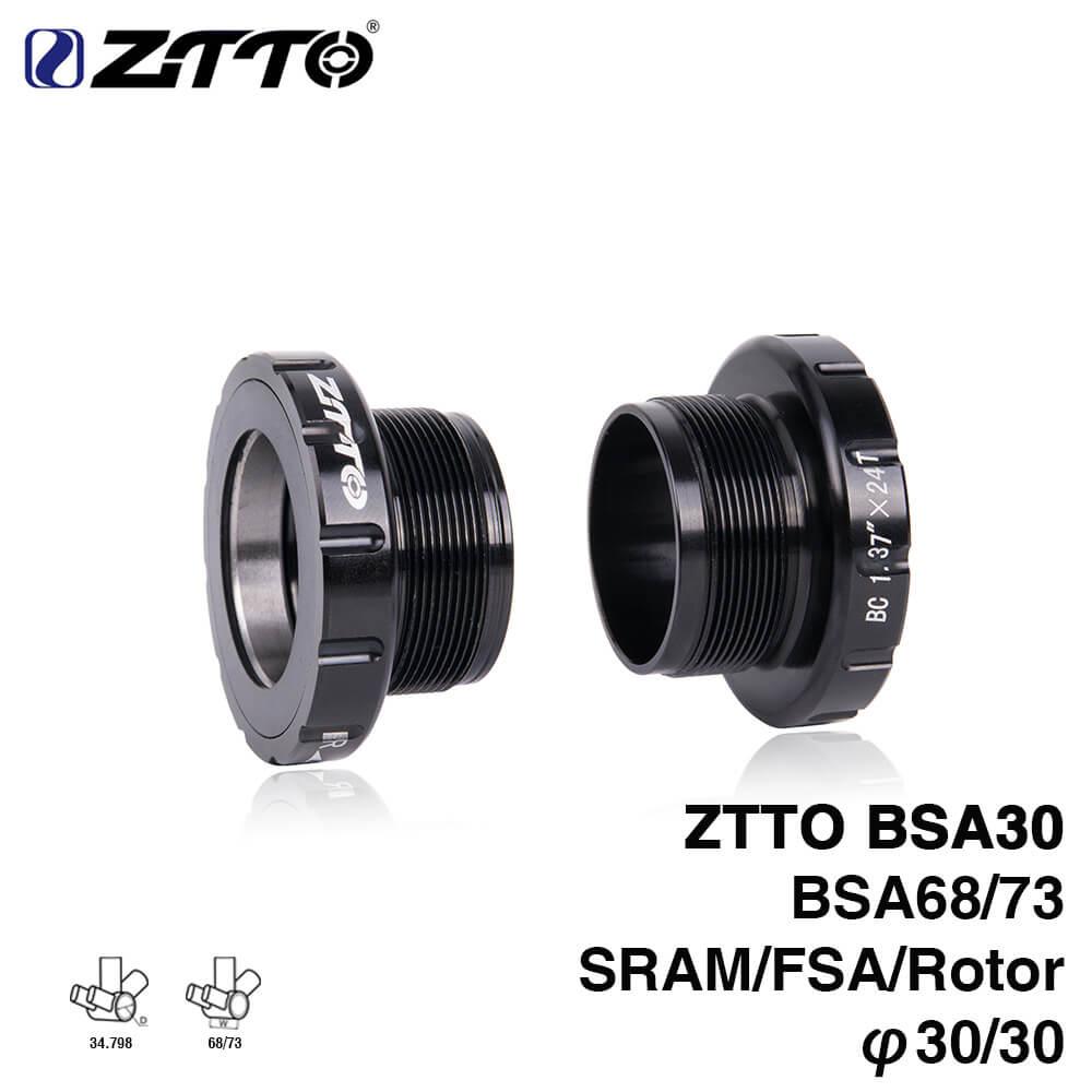 ZTTO Fahrrad BSA30 BB68 MTB Mountian Rennrad Lager Boden Klammern für SRAM Rotor Raceface FSA SLK BB386 30mm kurbelgarnitur