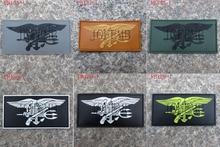 Selo da marinha dos eua equipe tridente águia táticas moral 3d pvc remendo