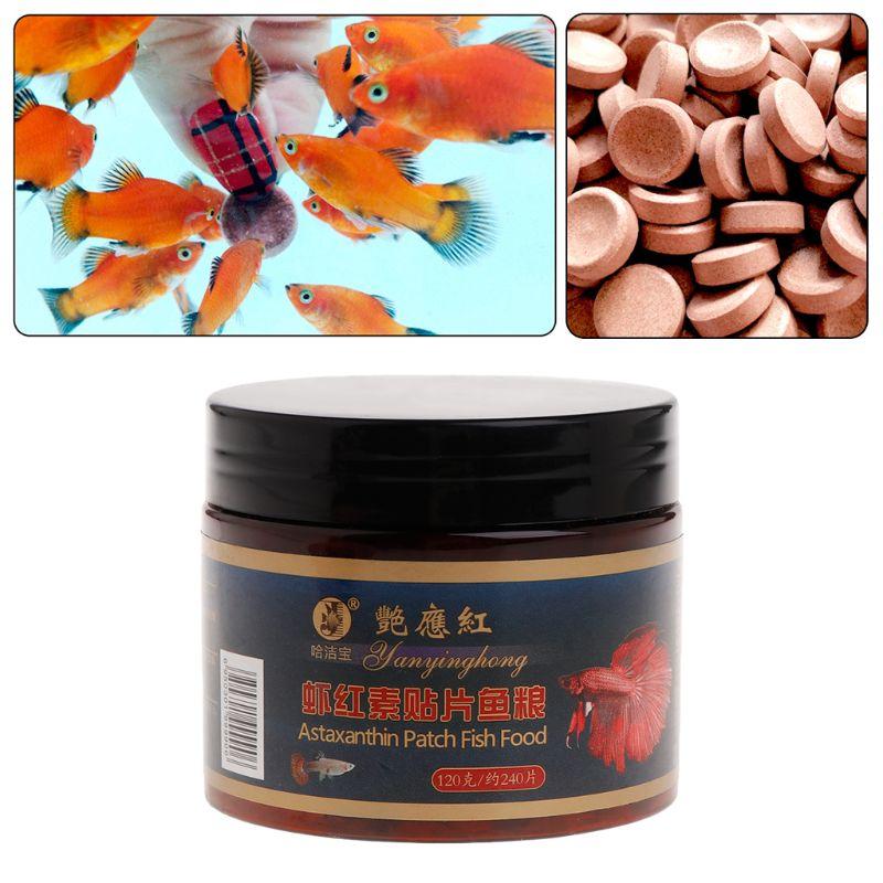 Alimento para peces astacina astaxantina acuario pecera tableta pastillas 240 Uds tabletas Natural seguro hundimiento proteína nutricion no tóxica