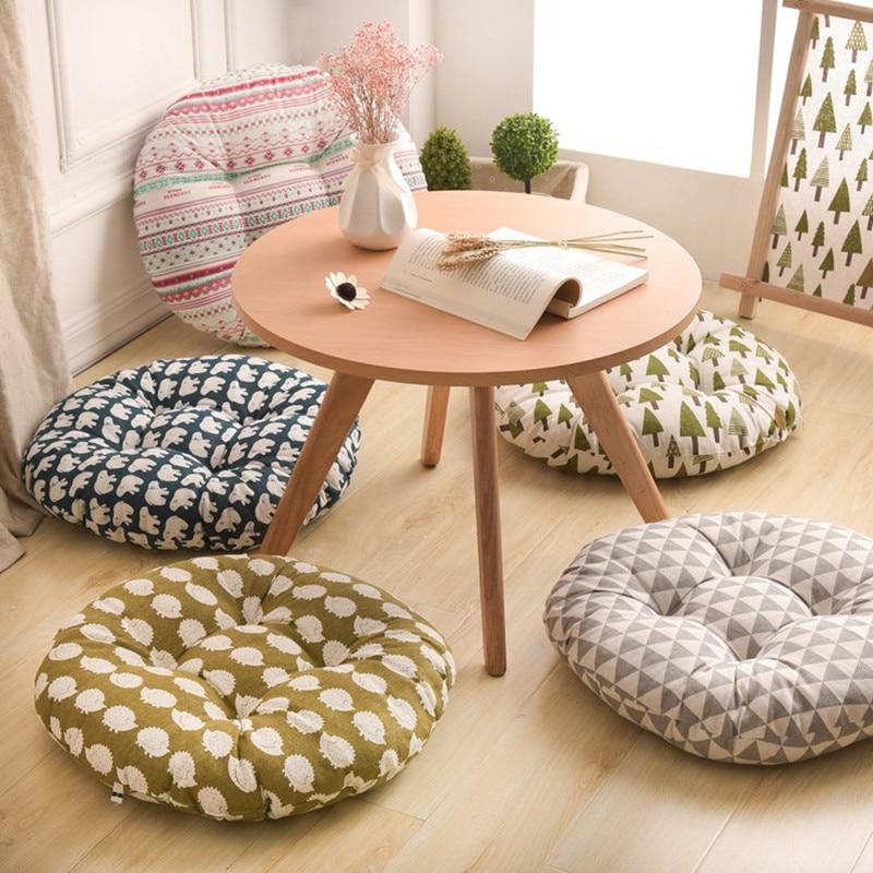 شكل دائري 2 حجم وسادة مقعد الحرير القطن الأساسية القطن البوليستر تاتامي وسادة مقعد ديكور المنزل سيارة لينة وسادة أريكة