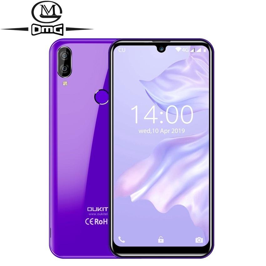 "Oukitel smartphone c16 pro lte mtk6761p, telefone celular, quad core, tela de 5.71 "", waterdrop, 199, impressão digital, 2600mah, face id telemóvel"