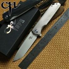 CH 3507 Flipper folding knife M390 Blade tatical ball bearing Titanium handle outdoor gear camp hunt survival Knives EDC tools