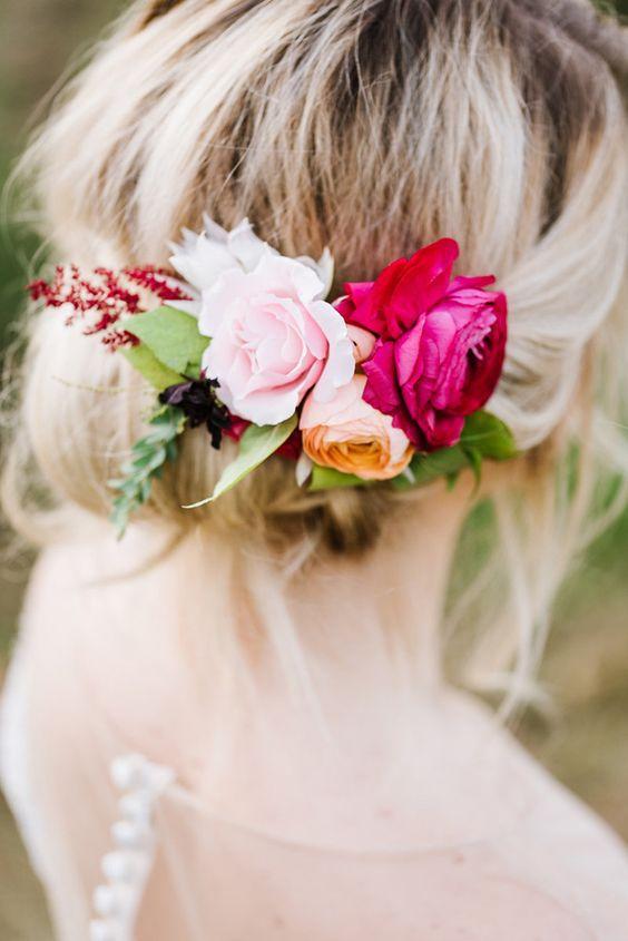 1 ud. De diademas Bohemias de flor rosa de belleza para mujer, guirnalda Floral para boda, cuerda de cáñamo, bandas para pelo para mujer, accesorios para el cabello
