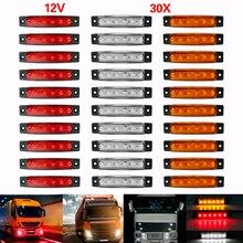 Luces exteriores de coche ámbar LED 12V-24v 9/6 Led Auto autobús camión indicador lateral LED bajo remolque lámpara lateral trasera