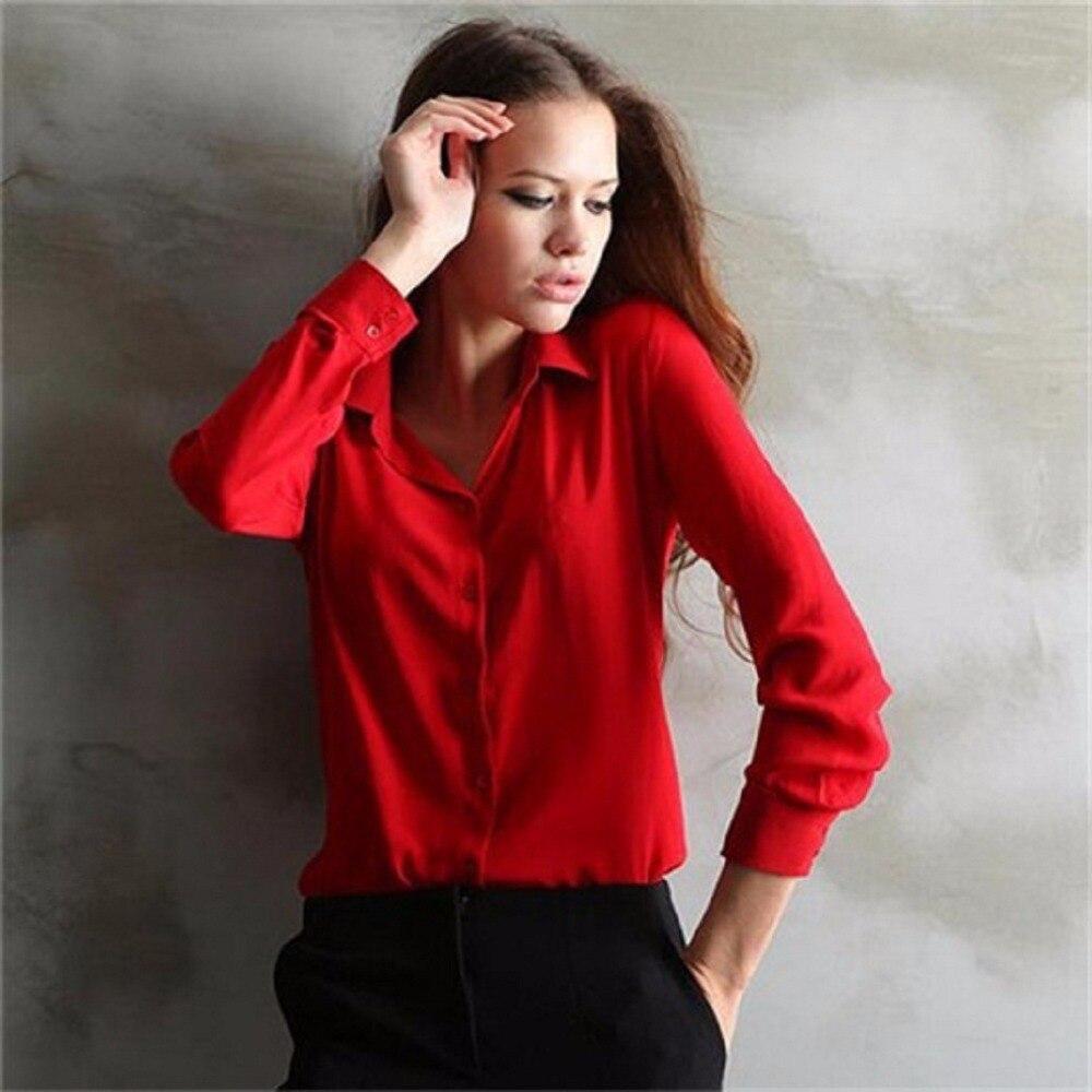 5 cores trabalho wear 2019 camisa feminina chiffon blusas femininas topos elegantes senhoras formal blusa de escritório plus size xxl