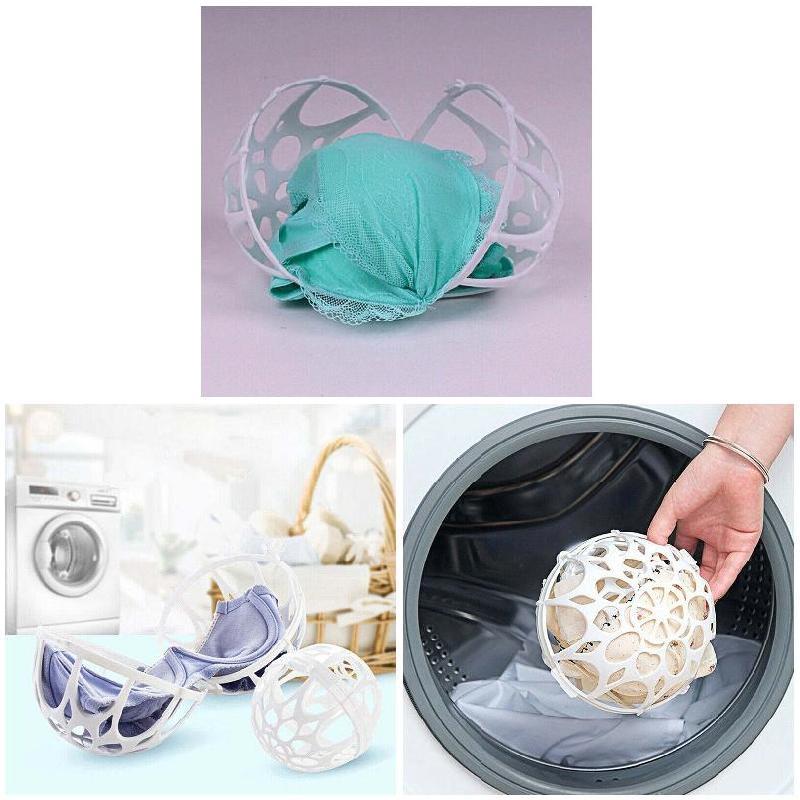 Recém 4 pçs bola dupla bolha sutiã saver lavadora máquina de lavar roupa sutiã protetor dod886