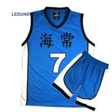 Japan Anime Kuroko no Basuke Basket Cosplay Kaijo School Uniforms Kise Ryota Men Jersey Sportswear T-shirt Shorts Set