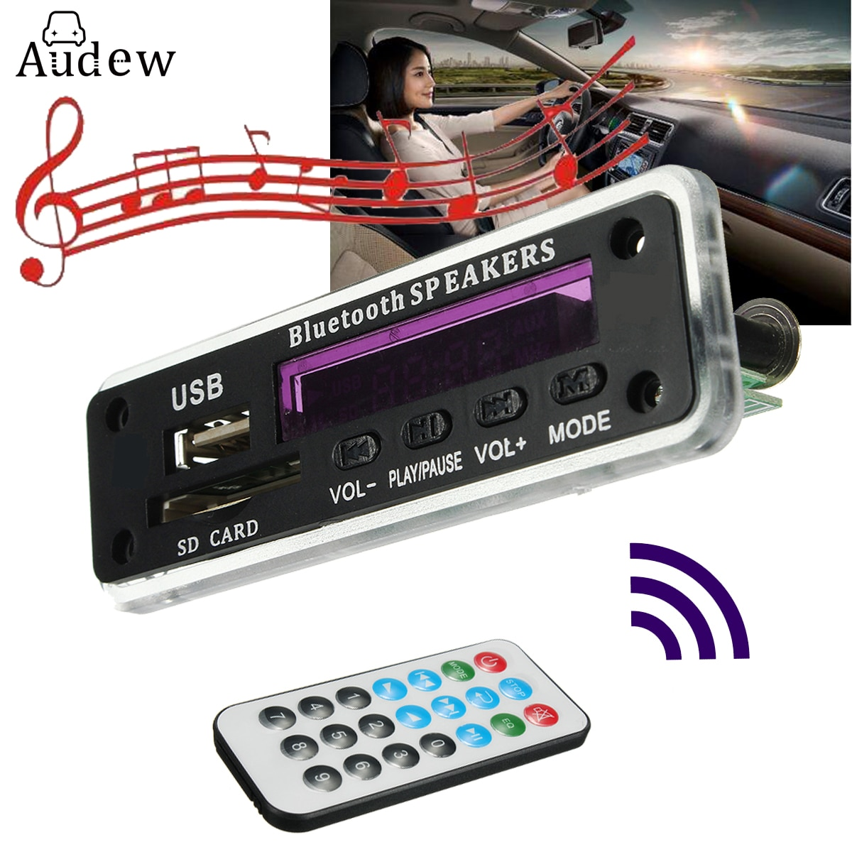 LEORY bluetooth MP3 Decoder Board Audio Modul Wireless 12V MP3 WMA DAC Decodierung Bord Mit Fernbedienung USB SD Karte FM Radio Für Auto
