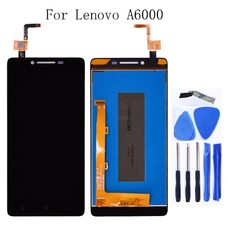 Adecuado para Lenovo A6000 K3 K30-T LCD Pantalla de cristal líquido con la pantalla táctil pantalla digitalizador componente para Lenovo A6000 pantalla