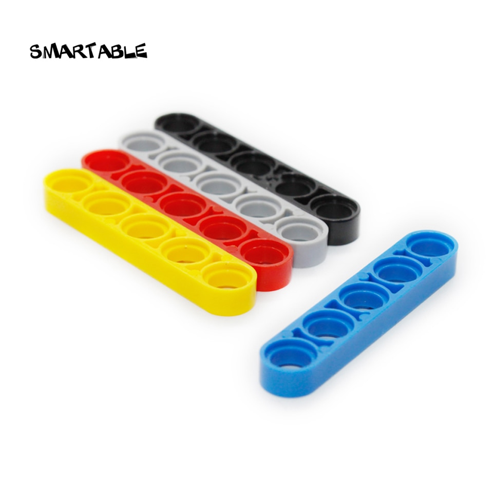 Smartable High-Tech Liftarm 1x5 Thin Building Block Parts Toys For Kid Educational Creative Compatible 32017 MOC 50pcs/lot