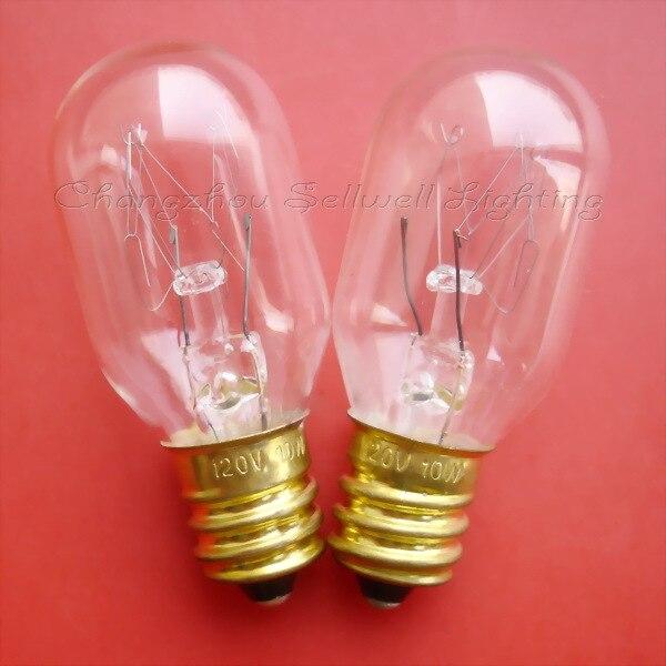 Lámpara miniatura 120 v 10 w e12 t20x48 A163 nuevo 10 piezas sellwell de iluminación