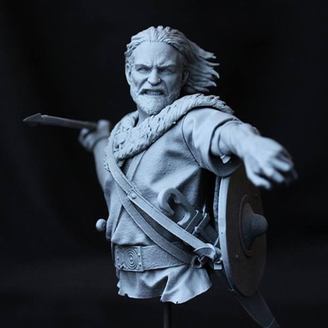 110 busto de resina figura sujetador de modelo de película antigua personaje Villatas X105