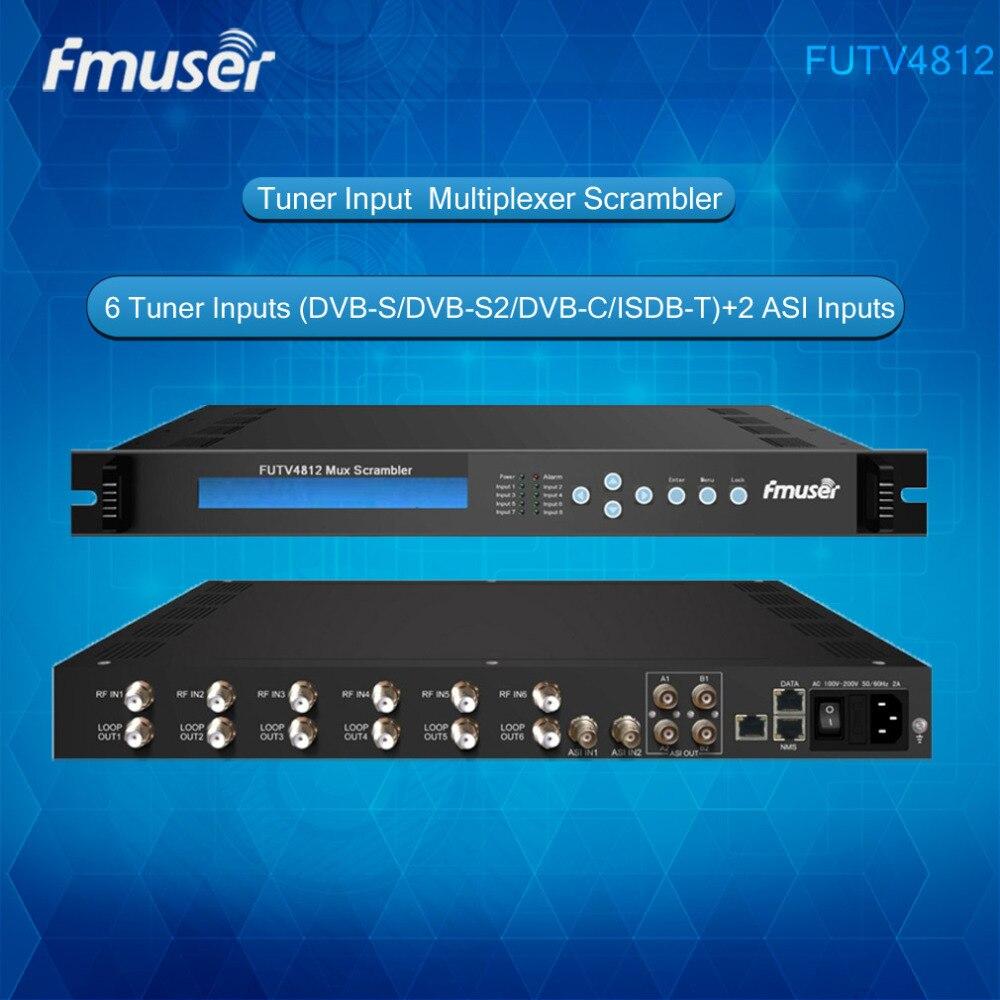 FUTV4812 6 Sintonizador IRD 6 DVB-S/S2/C/T receptor De Entrada RF, 2 ASI Em, 2 1 ASI Saída IP Mux-Scrambler