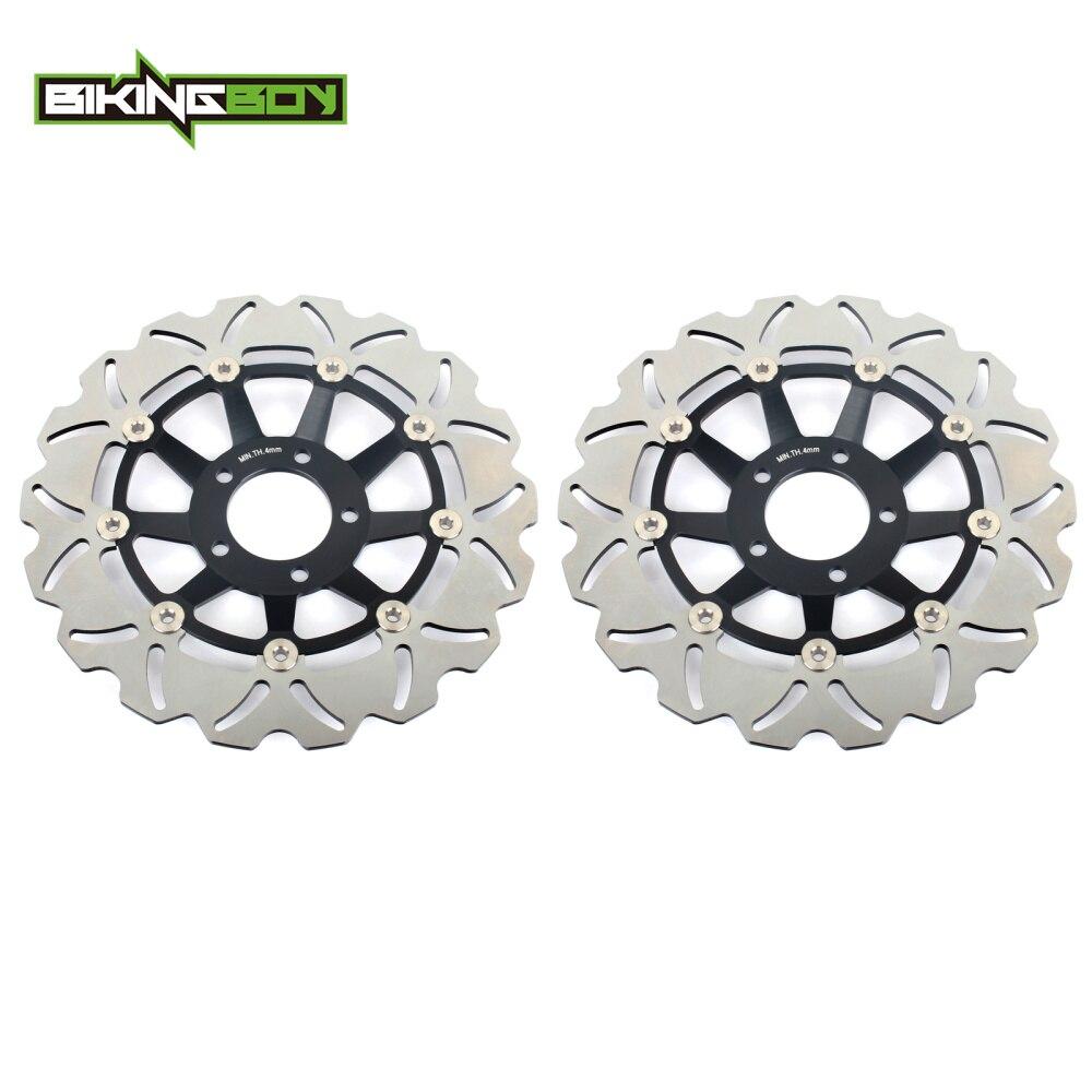 BIKINGBOY frente discos de freno rotores discos GSXR 750 88-95 F Honda Edición Limitada 89 90 GSX-R 1100 W 93, 94, 95, 96, 97, 98, 99 00