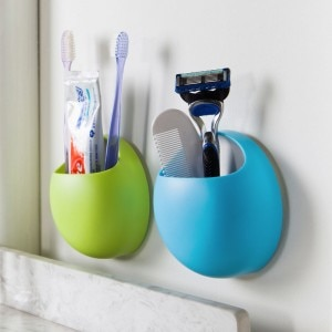 Fashion multifuction suction cup toothbrush holder 11*11*4.5cm enlarge