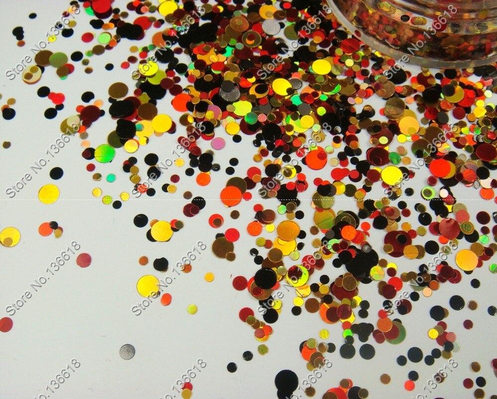 Poudre de paillettes de point dart dongle de paillettes rondes de mélange de 50g pour longle acrylique, le vernis à ongles, lartisanat et le maquillage
