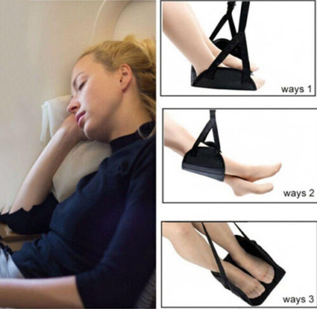 Удобная вешалка для путешествий самолета подножки гамак изготовлен из