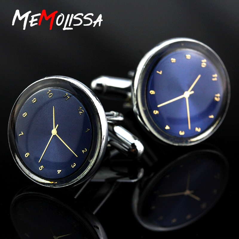 MMS Jewelry shirt cufflink for mens Brand cuff buttons Watch Shaped cuff link High Quality Wedding a