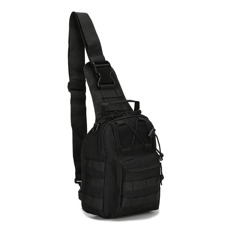 Nylon hombres pecho mochila de hombro bolsa cruzada en casuales mochila militar Assualt hombre mochila Honda