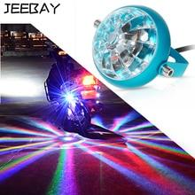 JEEBAY 12V Motorcycle Decorative Lamp Stop Brake Warning Lamp LED Turn Signal Chassis Tail Pit Bike Parking Laser Fog Lights