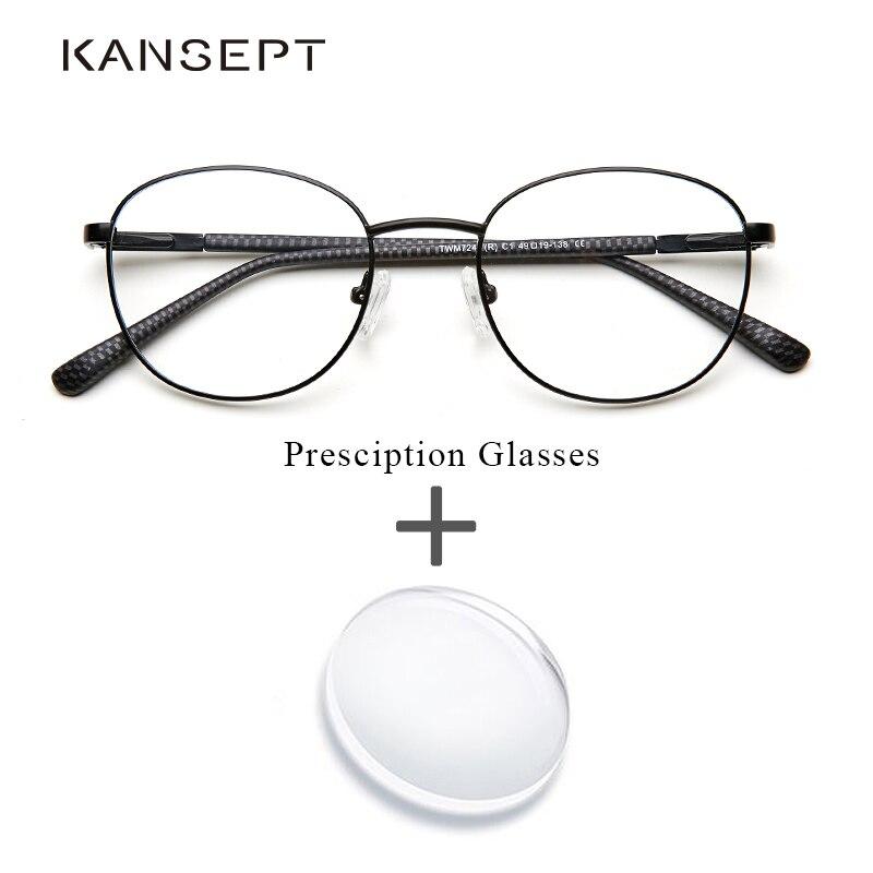 Gafas graduadas de Metal para mujer, gafas redondas Retro transparentes, gafas graduadas de miopía óptica por ordenador para hombres