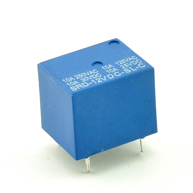 1 шт./лот реле SRD-12VDC-SL-C PCB типа 12В DC реле Songle