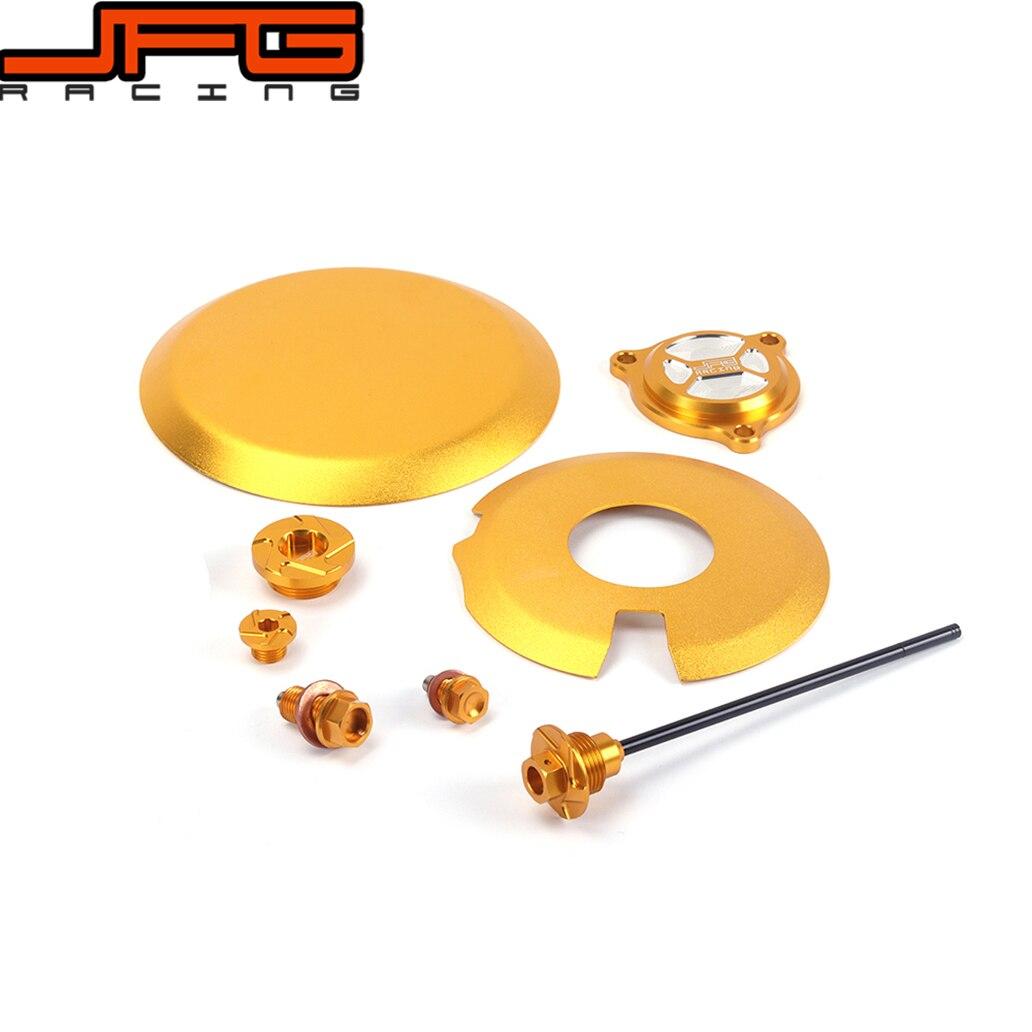 غطاء محرك ذهبي CNC ، برغي مرشح مقياس الزيت لـ DRZ400S DRZ400SM DRZ400 S/SM 2000-2015