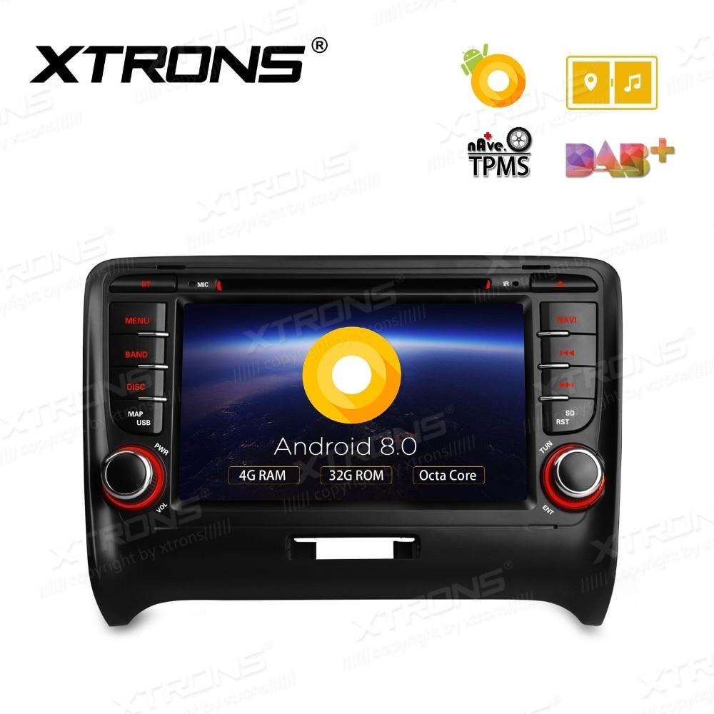 "7 ""Android 8.0 os Carro DVD Multimedia Radio para Audi TT MK2 (8J) 2006-2014 com 4 GB de RAM 32 GB ROM & 4G/3G/WIFI Internet Apoio"