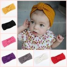 8 Colors Baby Girl Knit Crochet Turban Headband Winter Warm Headbands Hair Accessories For Newborns Hair bands Hairband Headwear