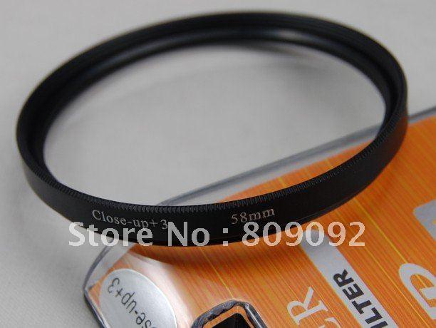 GODOX 58mm + 3 Filtro de lente de primer plano Macro para cámara Digital