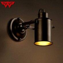 Loft archaize lampe applique style américain ancien fer art industriel vent Restaurant Bar couloir couloir applique
