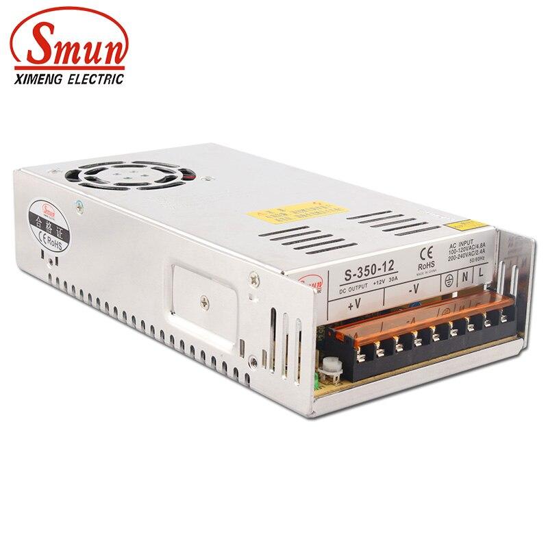 SMUN S-350-12 350W 12V 29A Modo de conmutación fuente de alimentación CA/CC salida única SMPS con CE RoHS aprobado