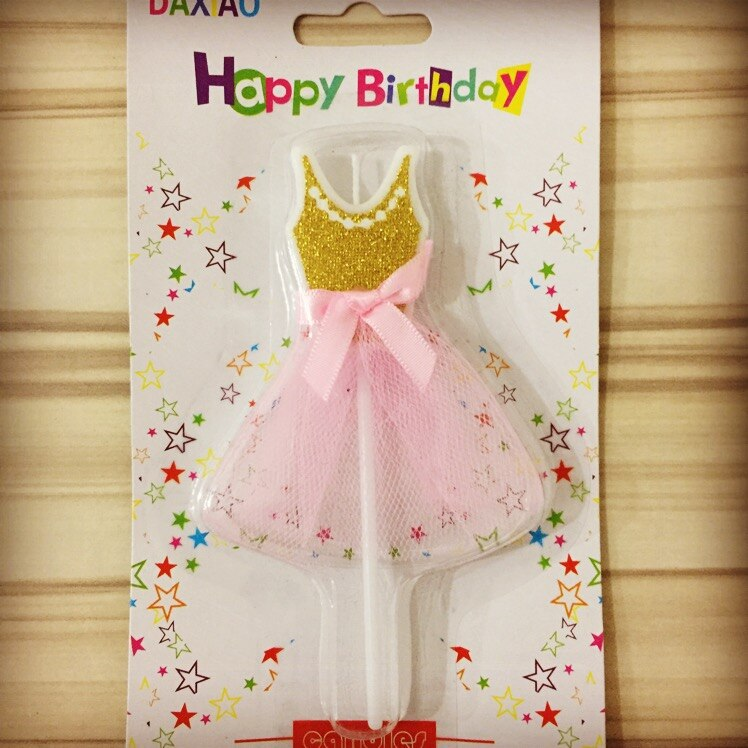 1 Uds., falda de Ballet, vela, pastel, Decoración de Pastel para niña, decoración de pastel de boda para fiesta de feliz cumpleaños, 12cm