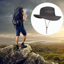 Chapeau de pêcheur de fil de maille de Protection extérieure haut et bas chapeau de pêche imperméable respirable réglable de côté large