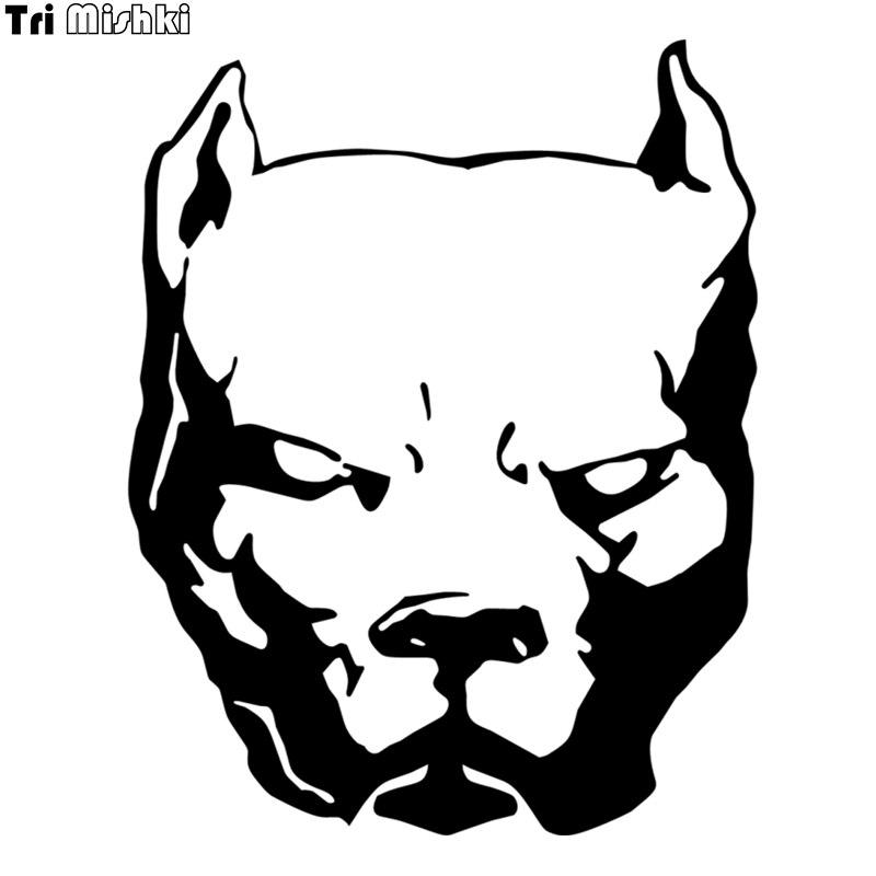 Tri mishki hzx060 18.8*15cm 50*40cm perigoso cão pitbull carro adesivo decalques de vinil para acessórios da motocicleta auto adesivo